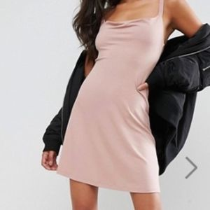 ASOS Mini Cowl Front Swing Dress